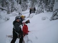elder_leading_snowshoeing